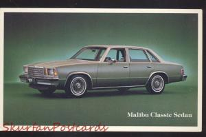 1977 CHEVROLET MALIBU CLASSIC SEDAN CAR DEALER ADVERTISING POSTCARD