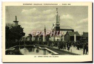 Old Postcard Exposition Coloniale Internationale Paris 1931 Grand Avenue Colo...