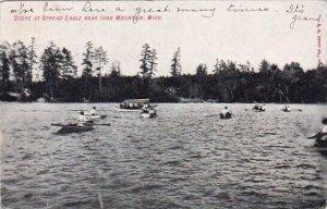 Scene At Spread Eagle Iron Mountain Michigan 1909