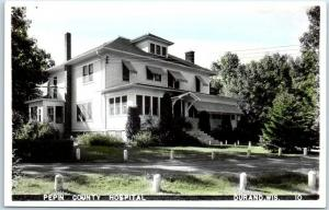 Durand, Wisconsin RPPC Postcard PEPIN COUNTY HOSPITAL Tinted Photo c1950s Unused
