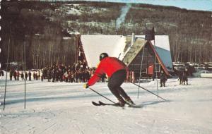 Man Skiing, Ski Chalet, DAWSON CREEK, British Columbia, Canada, 40-60´