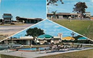 Winter Haven Florida~Shamrock Motor Lodge~Golf Putting Green~Pool~1960s Postcard