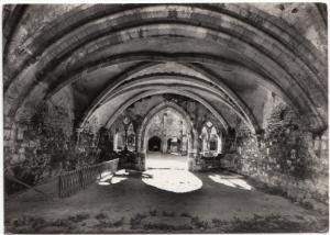 Cleeve Abbey, Washford, Somerset, UK, Chapter House, looking West, Postcard