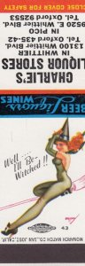 AS: PETTY, Pin-up Matchbook Cover, Well, I'll be Witched, 30-40s