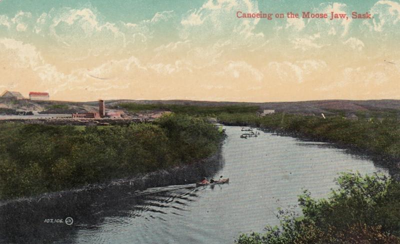 MOOSE JAW, Saskatchewan, PU-1909; Canoeing