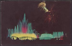 Fountain of Planets,New York World's Fair Postcard BIN