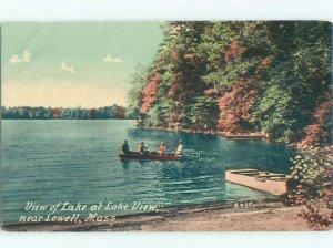 Divided-back LAKE SCENE Lowell - Near Boston Massachusetts MA AE5160