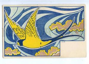 187607 ART NOUVEAU Air BIRD by CCT Vintage DIETRICH PC