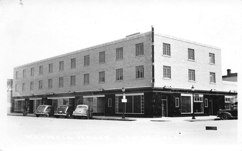 Lamar CO Maxwell House Hotel & Tavern~Real Photo Postcard~RPPC 1940s