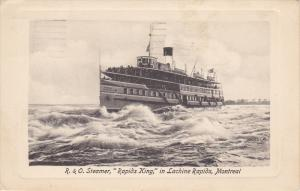 R & O Steamer , RAPID KING , In Lachine Rapids , MONTREAL , Quebec , Canada...