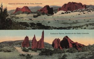 COLORADO, 1900-1910s; Gateway Of Garden Of The Gods, Cathedral Spires