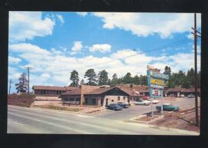 FLAGSTAFF ARIZONA WESTERN HILLS MOTOR HOTEL VINTAGE ADVERTISING POSTCARD