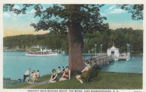 LAKE WINNEPESAUKEE, New Hampshire, 1910s; Endicott Rock Bathing Beach, The Weirs
