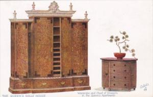 The Queen's Doll House Wardrobe & Chest Of Drawers In Queen's Apartment Tucks