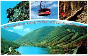 New Hampshire Greetings From Franconia Notch Multi View