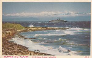 C.P.R. Steamer Arriving in a Rough Sea, Victoria, British Columbia, Canada, 2...