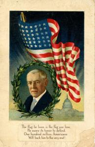 President Woodrow Wilson  (damaged card)