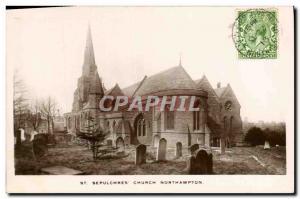 VINTAGE POSTCARD Sepulchres Church Northampton