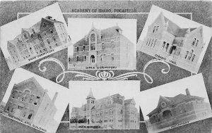 G17/ Pocatello Idaho Postcard c1910 6View Academy Dorms Infirmary