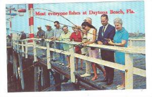 Fishing off of pier , Daytona , Florida , 40-60s