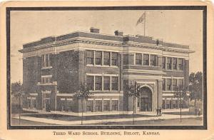A72/ Beloit Kansas Ks Postcard c1910 Third Ward School Building