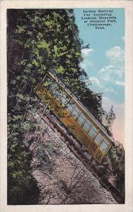 Tennessee Chattanooga Incline Railway Car Ascending Lookout Mountain At Steep...