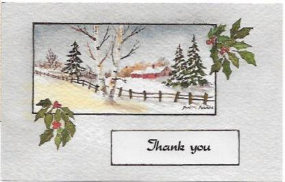 US Used post card - Thank You from a Mail Carrier. Stamp # 3048, Blue Jay