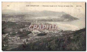 Spain Espana Spain San Sebastian Old Postcard Panorama Sacadi Terraza del mon...