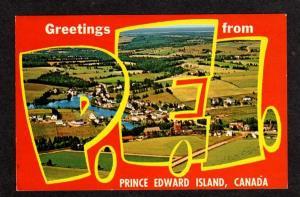 PEI Greeting Prince Edward Island Large Letter Postcard PC