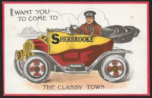 I Want You To Come To Sherbrooke The Classy Town CANADA Used c1913