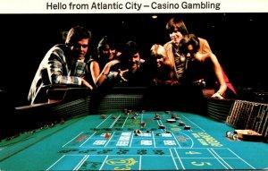 New Jersey Hello From Atlantic City Casino Gambling Craps Table