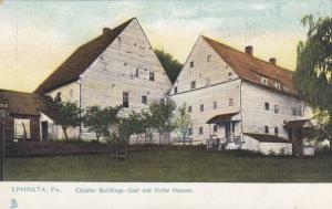EPHRATA , Pennsylvania, 1901-07; Cloister Buildings-Saal & Sister Houses; TUCK