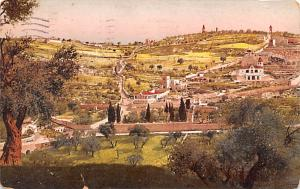 Israel Old Vintage Antique Post Card Jerusalem Mount of Olives and Gethsemane...