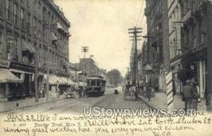 Bleecker Street Utica NY Postal used unknown