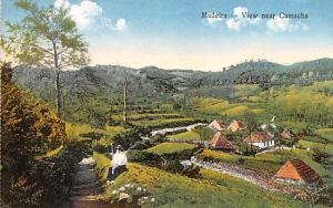 Portugal Old Vintage Antique Post Card View near Camacha Madeira Unused
