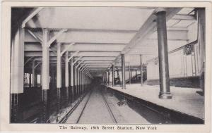SUBWAY 18TH STREET STATION & WRIGHTS PILL ADVERTISING CARD, NYC