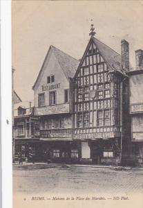 REIMS, Maisons de la Place des Marches, Restaurant, Champagne-Ardenne, France...