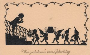 Silhouette ; Gnomes , Birthday , 1930