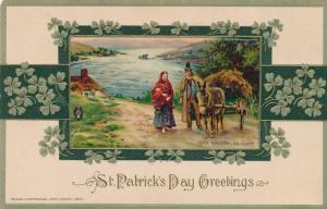 St Patrick's Day Greetings Scene near Kincora Co Clare Ireland pm 1914 Winsch DB