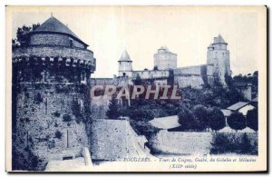 Old Postcard Fougeres Tours Coigny Guibe the Goblin Melusine