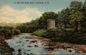 New Hampshire Franconia The Old Stone Stack 1951 Curteich
