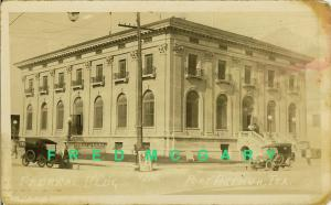 1922 Port Arthur Texas RPPC: Federal Building Exterior, Cars