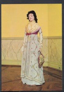 Fashion Postcard - Mid 1790's Embroidered Muslin Dress, Silk Fichu -  T8355