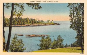 Camden Maine Curtis Island Light Scenic View Antique Postcard J79486