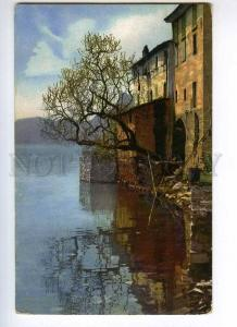 246990 ITALY Lago di Lugano Gandria Vintage postcard