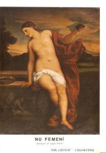 Postal 043260 : Un Femeni (Atribuit al segle XVIII) Col.leccio J. Quintero