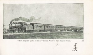 VERMONT, PU-1908; New England States LimitedCentral Vermont Fast Express Train