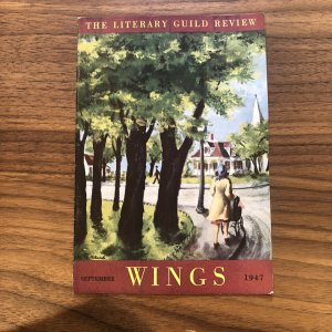 Wings Literary Guild Review September 1947 Vintage Writing Essay