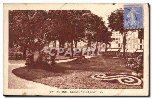 Old Postcard Amiens Square Rene Golbet