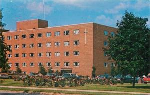Appletown Wisconsin~St Elizabeth Hospital~Cross in Corner~1970s Cars~Postcard